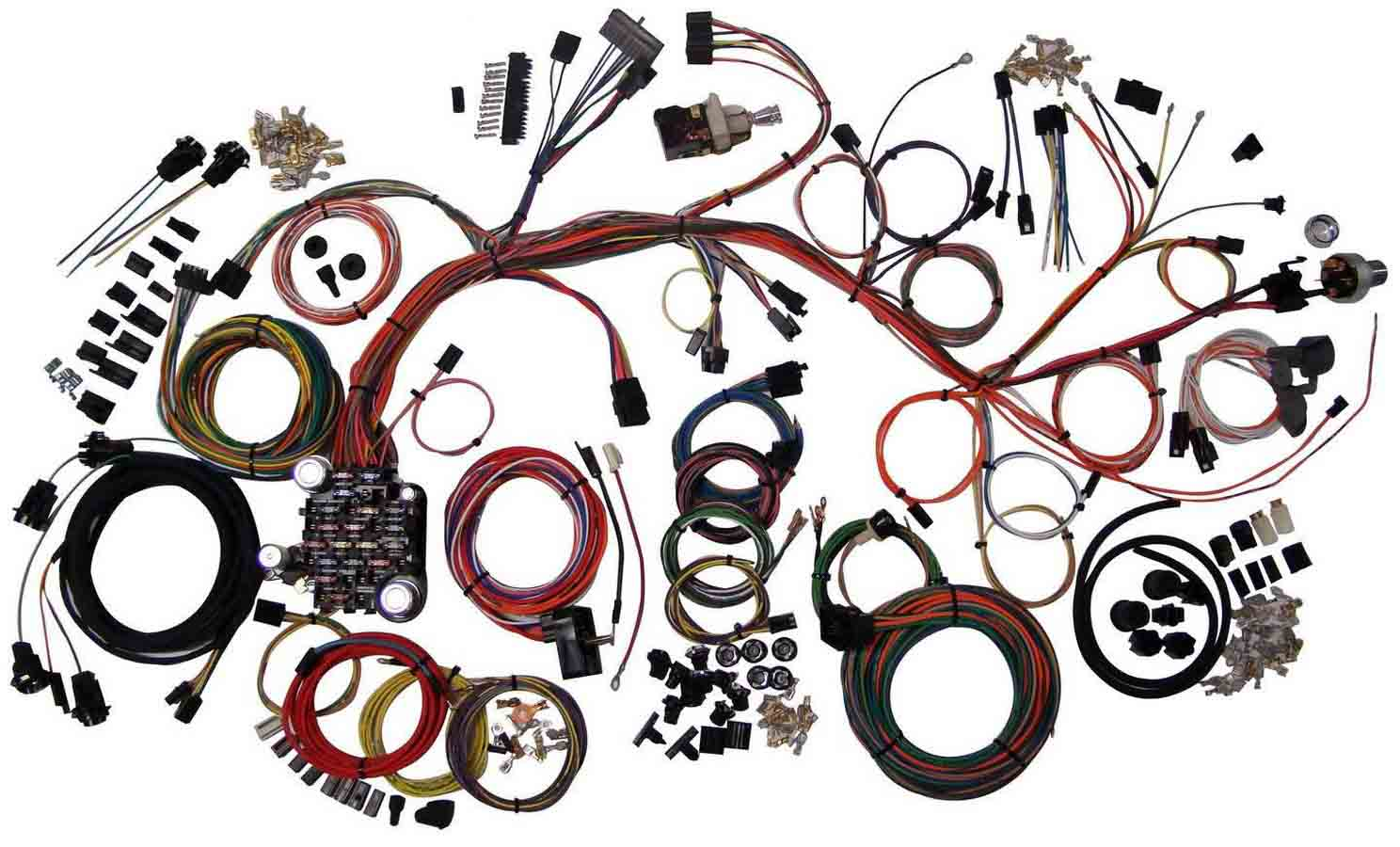 American Auto Wire Diagrams 66 Mustang Ignition Switch Wiring Diagram Grand Prix Autowire 65 Chevy Truck 61 64 Impala Harness