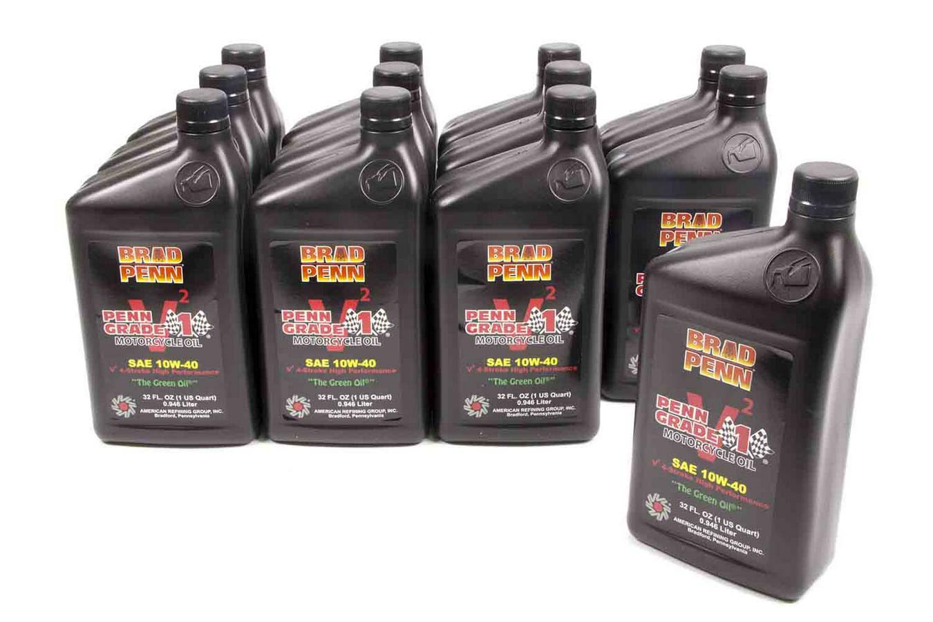 Brad Penn Oil Motorcycle 10w40 Motor Oil 1 Qt Case Of 12 P