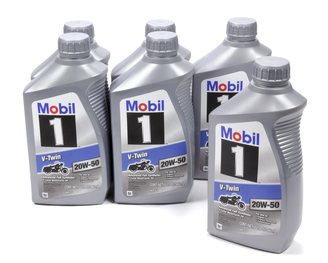 Mobil 1 20w50 Synthetic V Twin Motorcyclemotor Oil 1 Qt 6