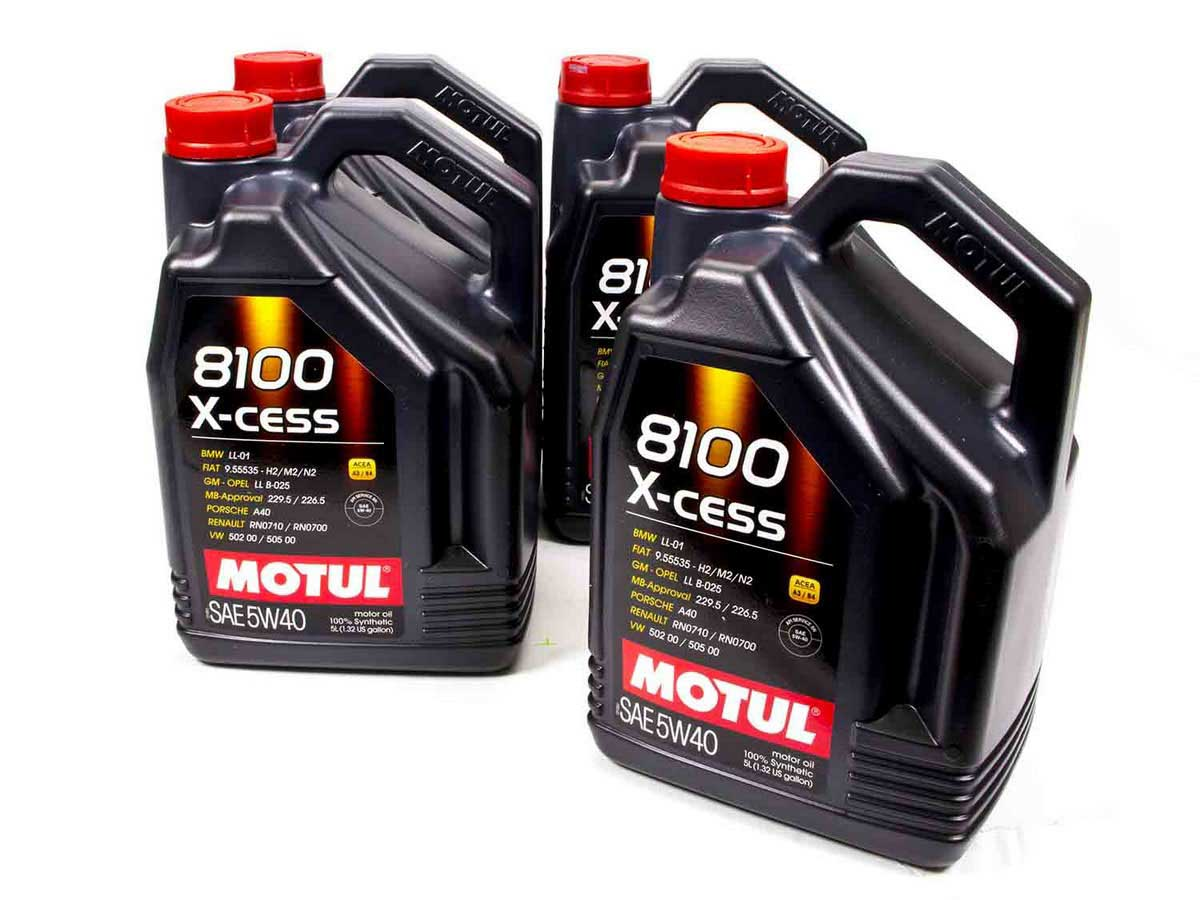 motul usa 102870 8100 x cess 5w40 oil case 4 5 liters ebay. Black Bedroom Furniture Sets. Home Design Ideas