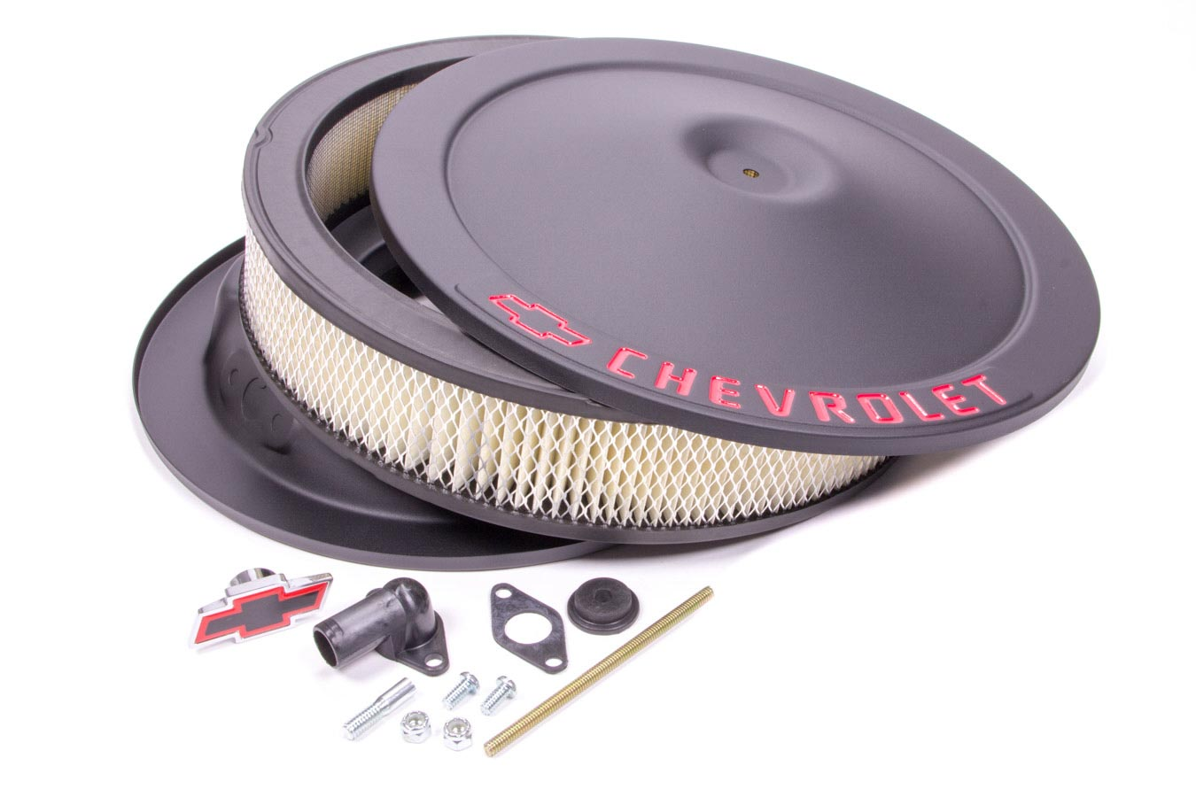 Classic Air Cleaners : Proform in round black steel classic air cleaner