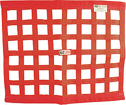 Ribbon Window Net 24x24 Red SFI