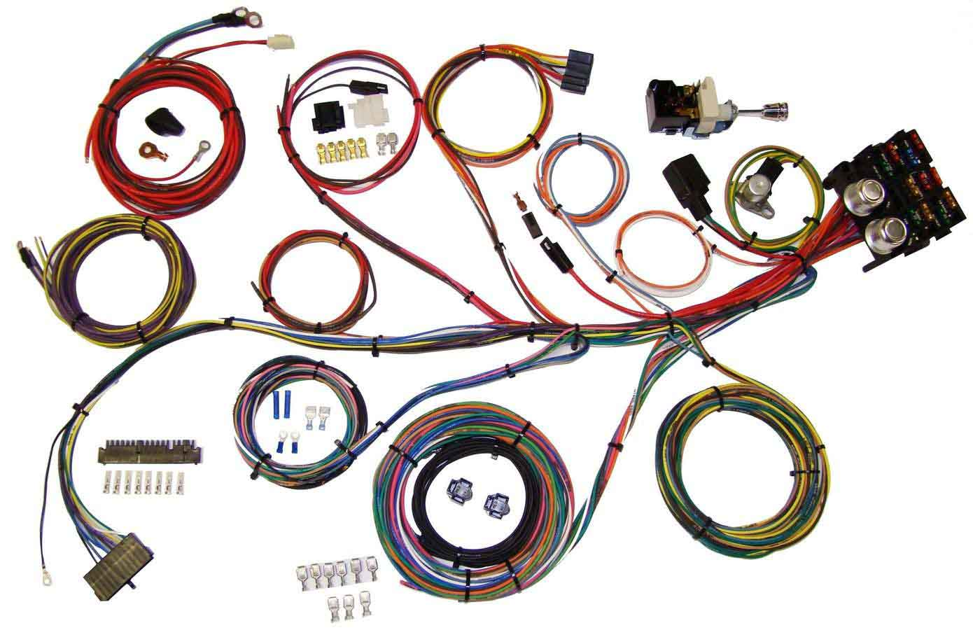 american autowire wiring system 13 power outlets gm column kit p ndetails about american autowire wiring system 13 power outlets gm column kit p n 510004