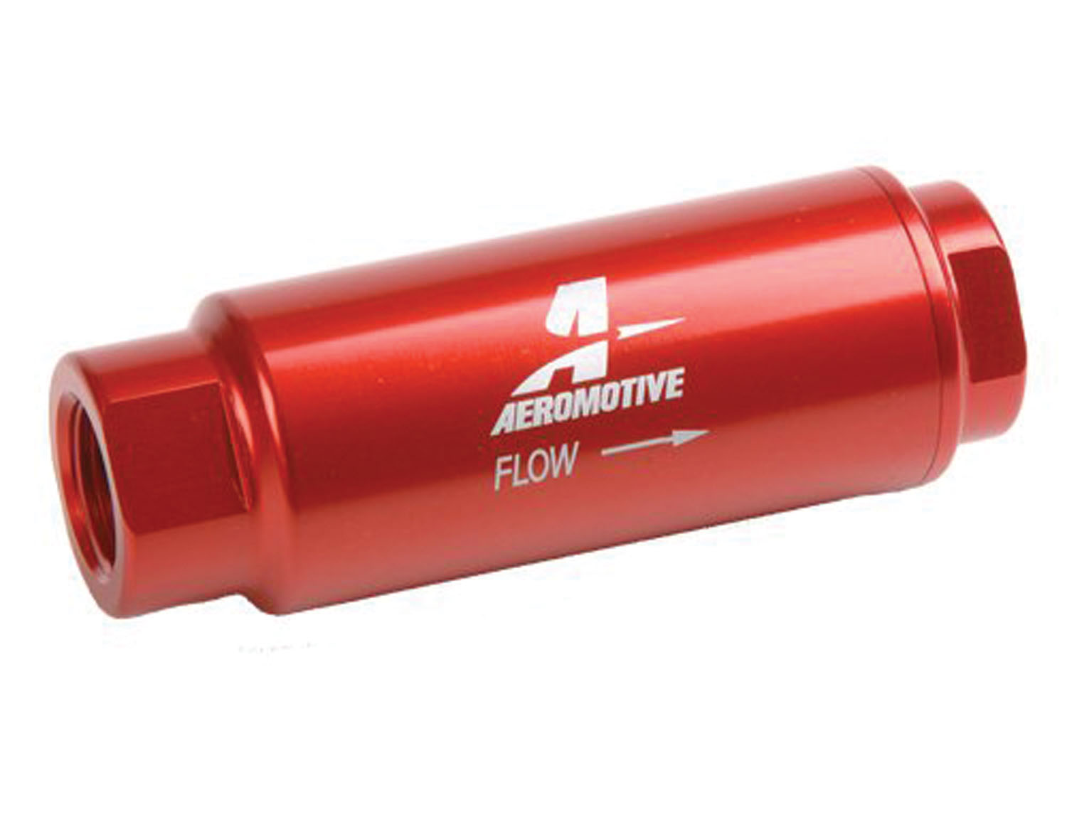 AEROMOTIVE 3/8 in NPT 40 Micron SS Series Red Fuel Filter P/N 12303