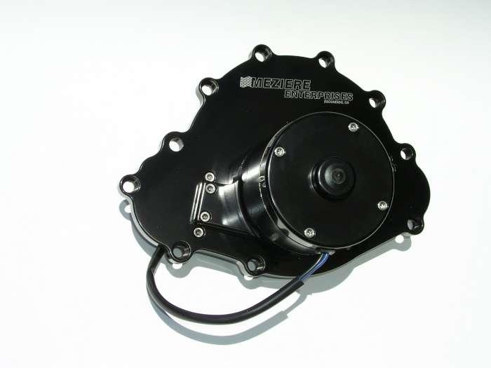 Meziere Black Aluminum 100 Series Electric Water Pump Kit