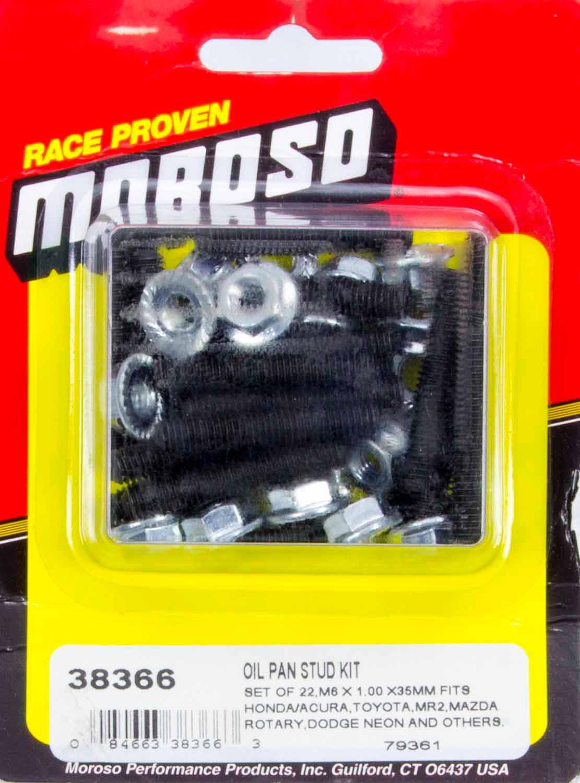 Moroso Oil Pan Stud Kit Serrated Face Nuts Natural Honda Mazda Oli Rotary 2t R30 Toyota P N 38366