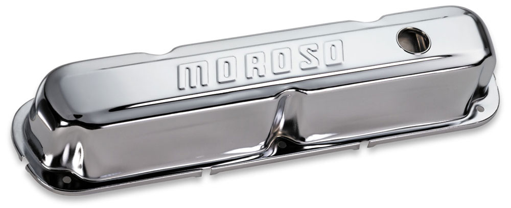 Moroso 68281 Chrome Valve Covers Set of 2