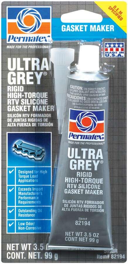 Permatex Ultra Grey Silicone Sealant 3 00 Oz Tube P N