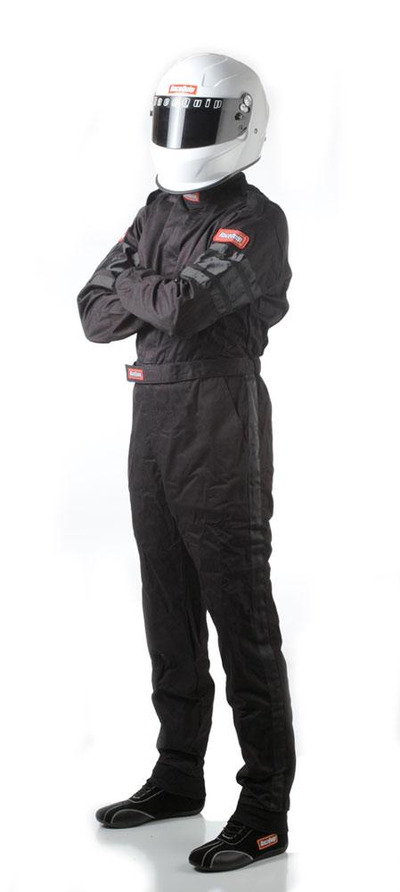 RACEQUIP Black 2X-Large 110 Series 1 Piece Driving Suit P//N 110007